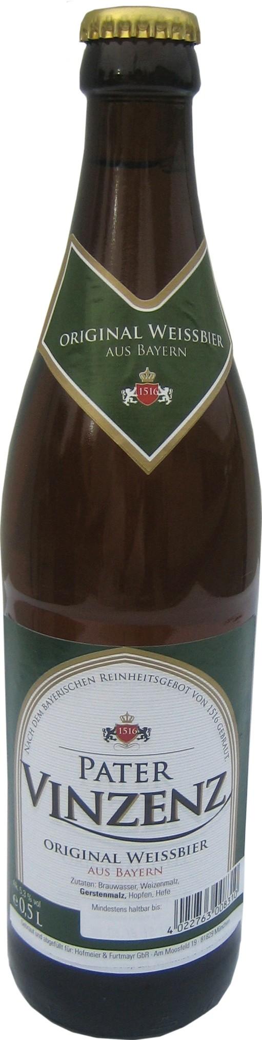 Pater Vinzenz Original Weißbier