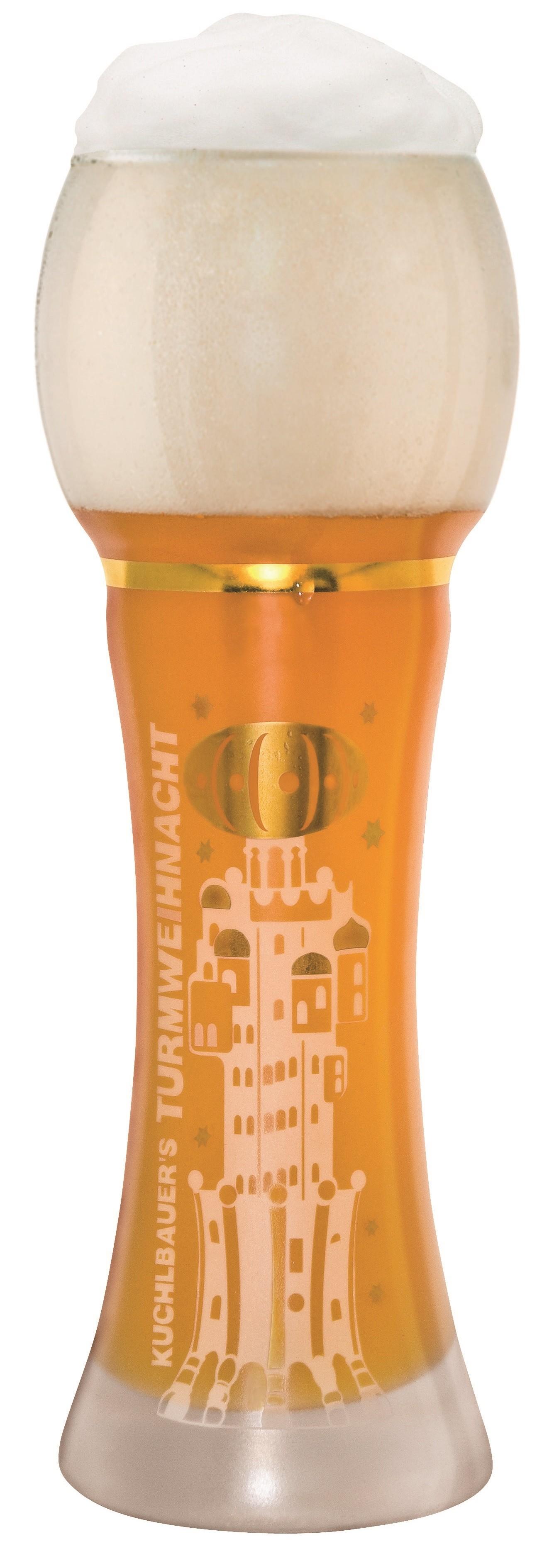 Kuchlbauer - Original Weihnachts-Turm-Design Glas