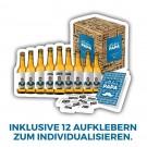 """Vatertagsgeschenk: """"Bester Papa"""" Vatertagsbox, 9 Flaschen 0,33l Pils + Gechenkkarte + Aufkleber + Geschenkverpackung"""