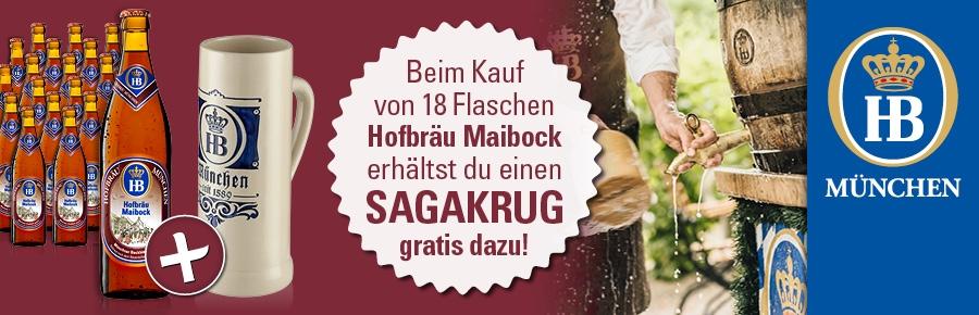 Hofbräuhaus München - Maibock. Jetzt Gratis Saga Krug sichern!