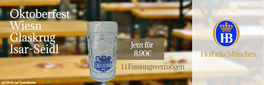 Hofbräu München Oktoberfest Wiesn Glaskrug