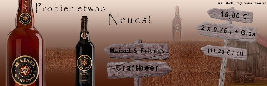 Jetzt die Craftbiere der Brauerei Mailes&Friends testen!!