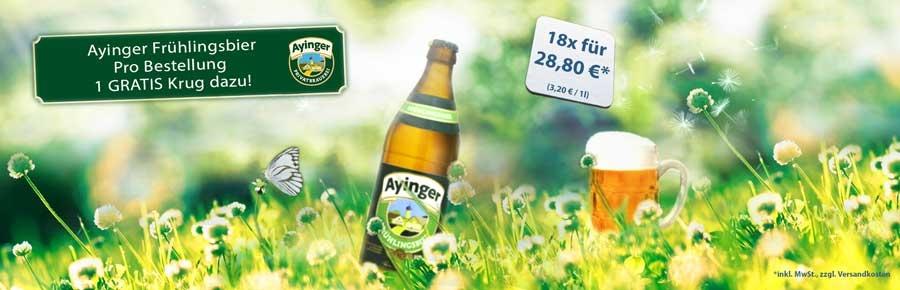 Ayinger Frühlingsbier im Bier Shop: Bierspezialitäten online bestellen