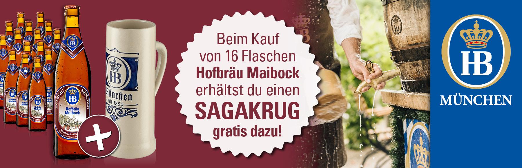 Wieder im Angebot der Hofbräu Maibock - jetzt bestellen!