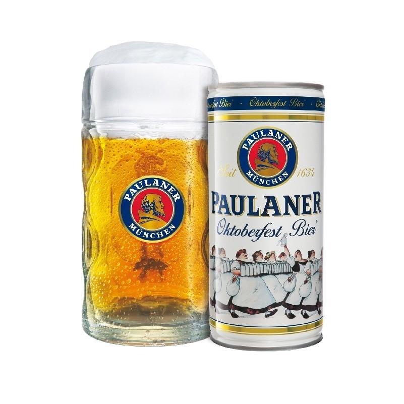 Paulaner Oktoberfestmaßkrug + 1l Oktoberfestbier Dose
